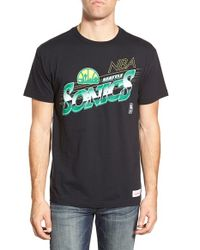 Mitchell & Ness - Black 'seattle Supersonics - Last Second Shot' Graphic T-shirt for Men - Lyst