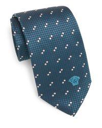 Versace | Green Silk Dot Pattern Tie for Men | Lyst