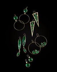 Lana Jewelry | Envy Green Onyx Double-Drop Earrings | Lyst