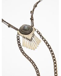 Free People | Metallic Womens Stone Tassel Bolo | Lyst