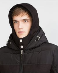 Zara | Black Combined Quilted Jacket for Men | Lyst