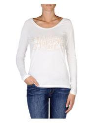 Napapijri | White Long Sleeve T-shirt | Lyst