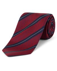 Jaeger Red Twill Stripe Tie for men