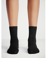 Free People | Black Legale Womens West Street Ankle Sock | Lyst