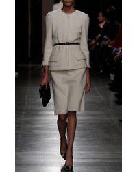 Oscar de la Renta - Natural Merino Wool Bracelet Sleeve Jacket - Lyst