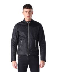 DIESEL - Black J-red Satin Bomber Jacket for Men - Lyst