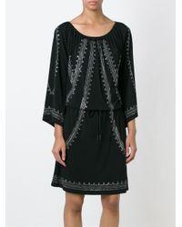 MICHAEL Michael Kors - Black Embellished Drawstring Dress - Lyst