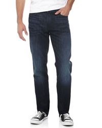 7 For All Mankind | Blue Slimmy Straight-Leg Jeans for Men | Lyst