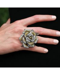Wendy Yue | Yellow Diamond Flower Ring | Lyst