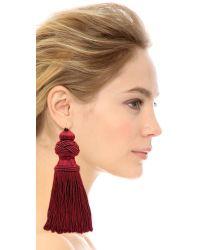 Vanessa Mooney Red The Broadway Earrings - Burgundy