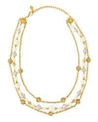 Jose & Maria Barrera | Metallic Triple-strand Necklace | Lyst