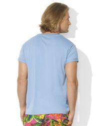 Polo Ralph Lauren | Blue Medium-Fit Short-Sleeved Cotton Jersey V-Neck for Men | Lyst