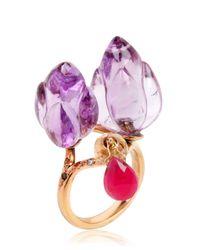 Alice Cicolini - Purple Double Lotus Amethyst Ring - Lyst