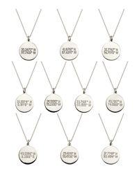 Coordinates Collection | Metallic Silvertone Layered Equator Pendant Necklace | Lyst