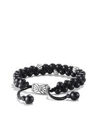 David Yurman - Black Spiritual Beads Two-row Bracelet, 6mm for Men - Lyst