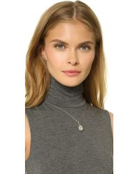 Monica Rich Kosann Metallic Petite Sunburst Locket Necklace - Silver