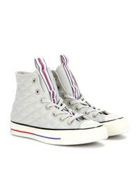 Converse Gray Chuck Taylor All Star '70 Down Jacket High-Top Sneakers