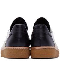 Alexander Wang White & Black Leather Eden Sneakers for men