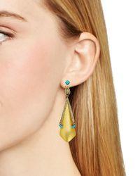 Alexis Bittar | Metallic Lucite Dangling Beetle Stud Earrings | Lyst