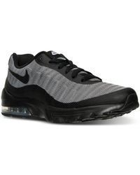 be876b76745 Black Men s Air Max Invigor Premium Running Sneakers From Finish Line