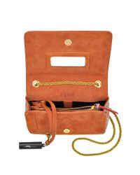 Jérôme Dreyfuss | Orange Eliot Brick Elaphe & Leather Crossbody Bag | Lyst