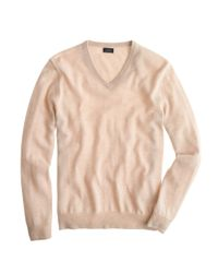 J.Crew | Natural Tall Italian Cashmere V-neck Sweater for Men | Lyst