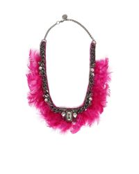 Liu Jo | Pink 'feathered Soul' Necklace | Lyst