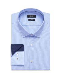 BOSS - Blue 'joey'   Slim Fit, Cotton Easy Iron Dress Shirt for Men - Lyst