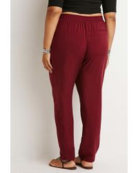 Forever 21 | Red Plus Size Classic Drawstring Pants | Lyst