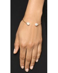 Tai - White Open Freshwater Cultured Pearl Bracelet - Pearl/gold - Lyst