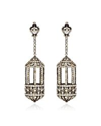 Bochic - Metallic Diamond Birdcage Earrings - Lyst