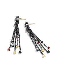 David Yurman - Black Chain Tassel Earrings - Lyst