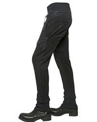 Alexandre Plokhov Black Leather Effect Cotton Jogging Trousers for men