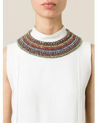 Valentino | Multicolor Crystal Necklace | Lyst