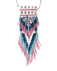 Etro - Blue Long Beaded Necklace - Lyst
