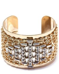 DANNIJO Metallic Gold-plated Simone Crystal Cuff
