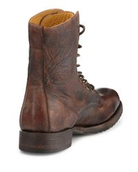 Frye - Brown Rand Stonewash Lace-Up Boot for Men - Lyst