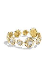 David Yurman | Metallic Starburst Bracelet With Diamonds In Gold | Lyst