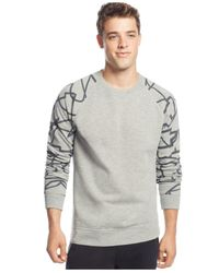 American Rag - Gray Abstract Sweatshirt for Men - Lyst