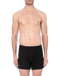 Lacoste - Black Piqué Cotton-blend Boxer Briefs for Men - Lyst