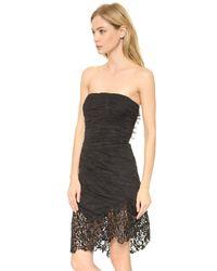Nina Ricci - Strapless Lace Dress - Black - Lyst
