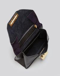 Zac Zac Posen Blue Shoulder Bag - Eartha Envelope Haircalf