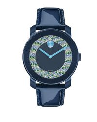 Movado Bold - Blue Bold Navy Patent Leather Strap Watch - Lyst
