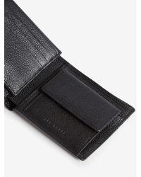 Ted Baker - Black Metal Corner Leather Wallet And Cardholder for Men - Lyst