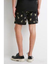 Forever 21 | Yellow Safari Animal Print Shorts for Men | Lyst