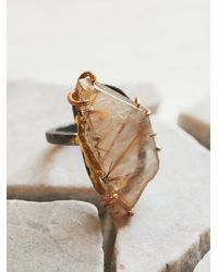 Free People - Multicolor Variance Objects Womens Rutilated Quartz Ring - Lyst