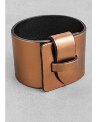 & Other Stories | Metallic Leather Cuff | Lyst