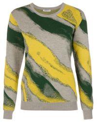 AALTO | Gray Intarsia Knit Sweater | Lyst