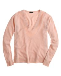 J.Crew - Purple Collection Cashmere Pointelle V-neck Sweater - Lyst