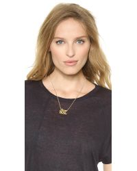 Marc By Marc Jacobs - Metallic Bunny Hop Nameplate Necklace - Oro - Lyst